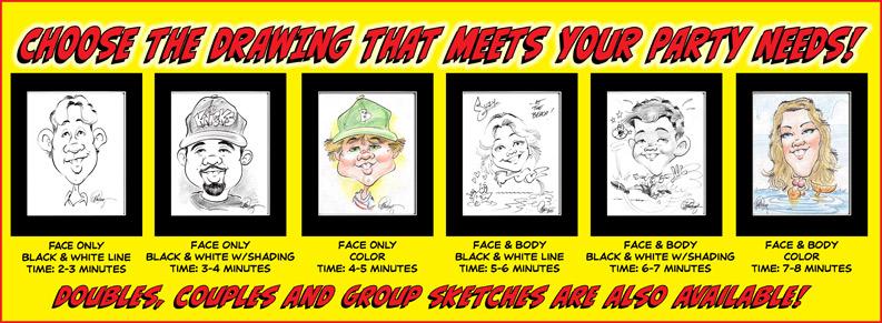 QuickDraw Studios Party Caricatures